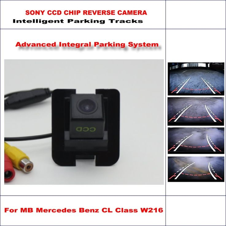 57.90$  Buy here - http://aibhv.worlditems.win/all/product.php?id=32790666811 - HD CCD SONY Rear Camera For MB Mercedes Benz CL Class W216 Intelligent Parking Tracks Reverse Backup / NTSC RCA AUX 580 TV Lines
