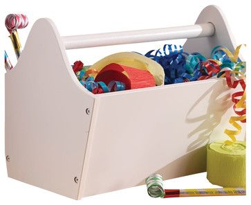 Kidkraft Kids Playroom Gift Doll Storage Unit Organizer Wooden Toy Caddy White modern-toy-organizers