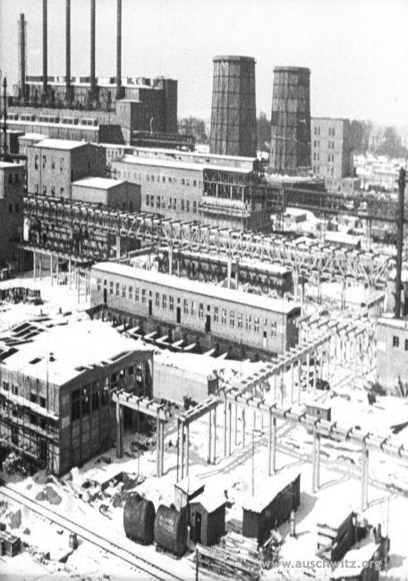 A panorama of Buna-Werke factory which belonged to IG Farben. Picture taken in 1945. (Auschwitz-Birkenau State Museum Archives)
