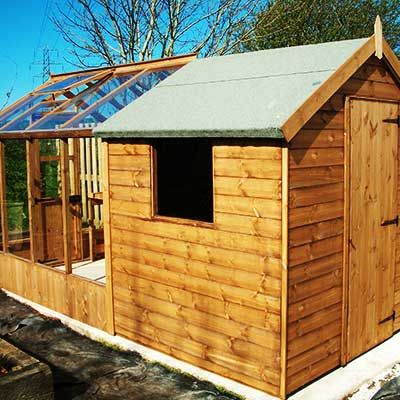 combination greenhouse sheds sheffield chesterfield