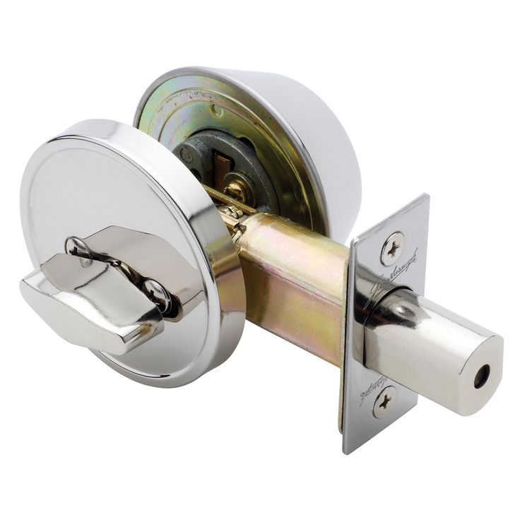 Round Deadbolt Polished Stainless - Single Cylinder