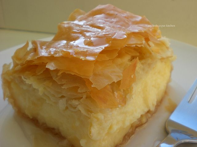 Galaktompoureko - Greek dessert with phyllo, filled with pastry cream and drenched in syrup by My Little Expat Kitchen, via Flickr---My absolute favorite dessert, EVER!!!