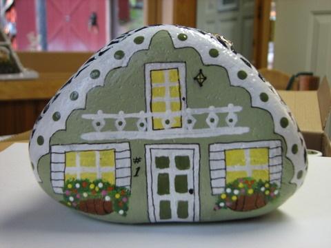 Rock Painting (fairy garden house)