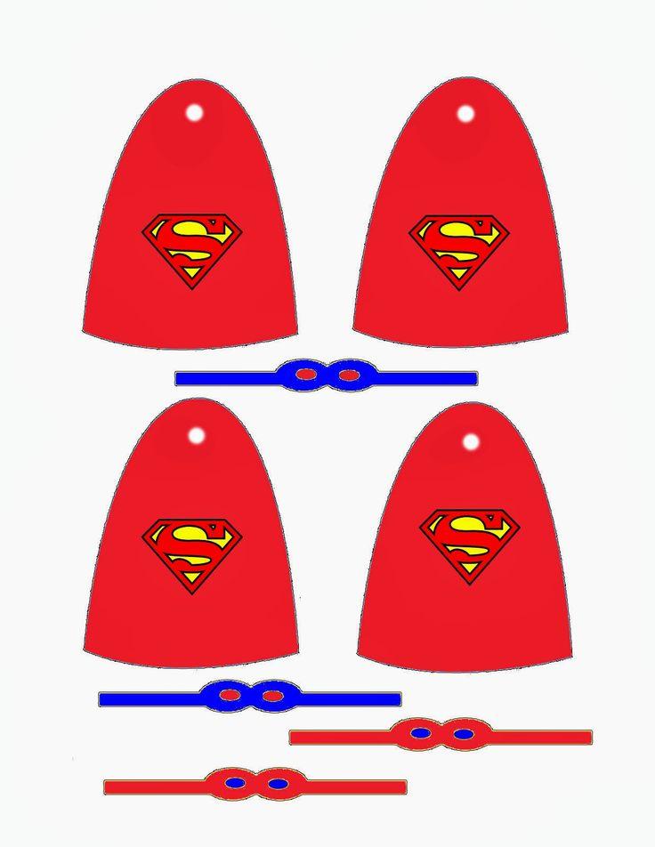 Decoração para Pirulitos - Capa Super Heróis para Pirulitos - Convites Digitais Simples (CAPES & MASK FOR SUCKERS)