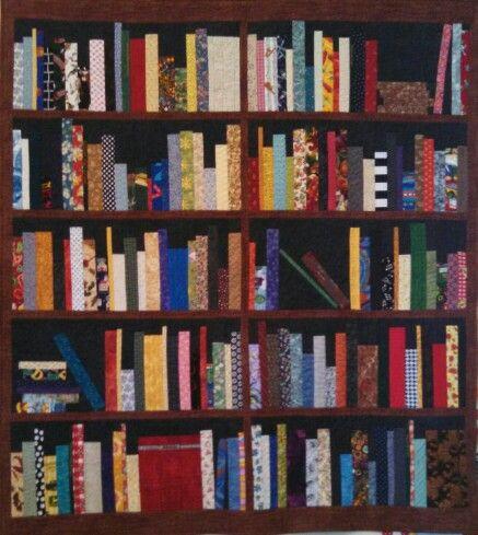 My Version Of The Bookshelf Quilt Bookshelf Quilts