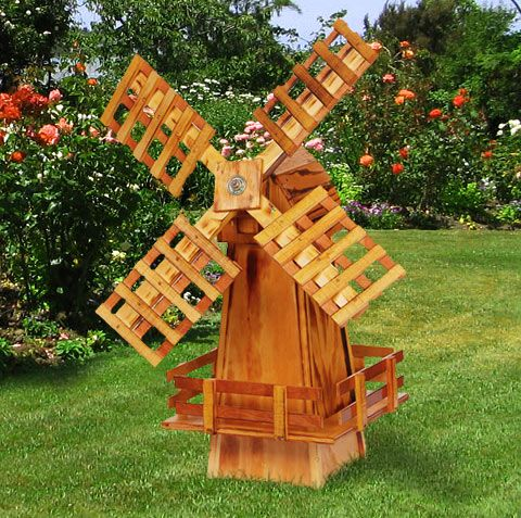 Wood windmill outdoor living space pinterest d co - Moulin a vent deco exterieur ...