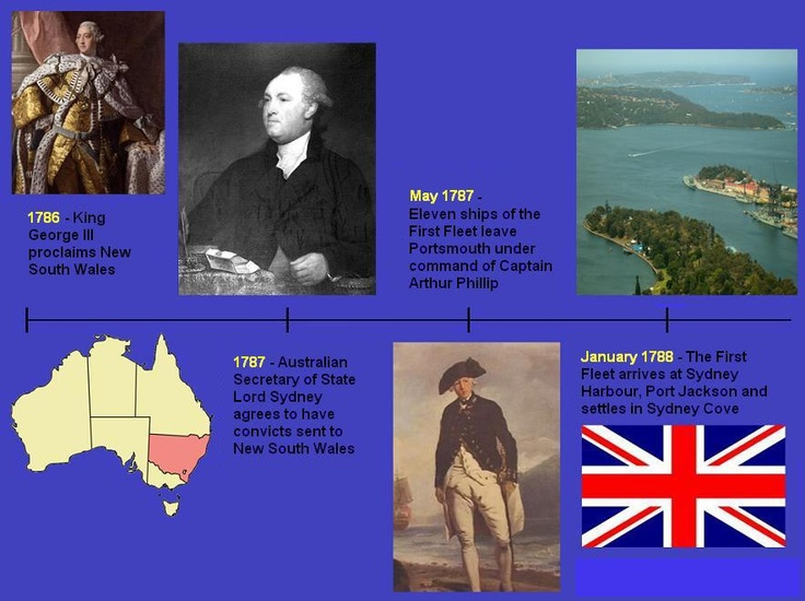 On this day in 1787 – Captain Arthur Phillip leaves Portsmouth, England, with eleven ships full of convicts (the First Fleet) to establish a penal colony in Australia.