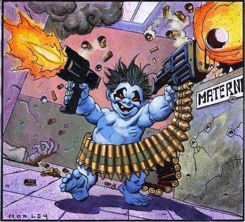 alex horley fantasy art | BabyLobo, in alex horley's Lobo Comic Art Gallery Room