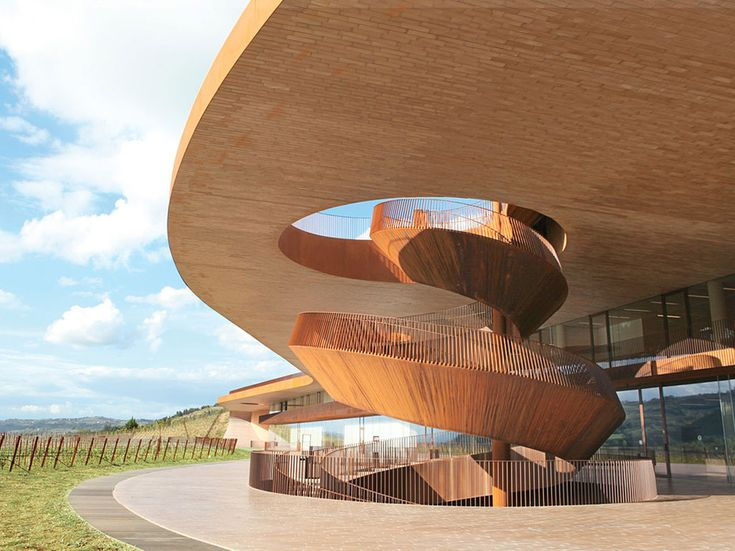 Cantina Antinori in Bargino (20 minutes outside Florence), Italy (architect: Archea)