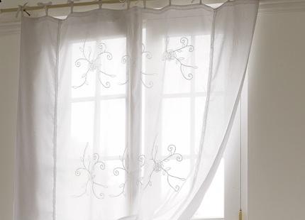 Gracie Sheer White Cotton Curtain Panel: Cotton Curtains, Sheer White, Curtain Panels, White Cotton, Curtains Panels, Rooms Ideas, Gracie Sheer, Curtains Call