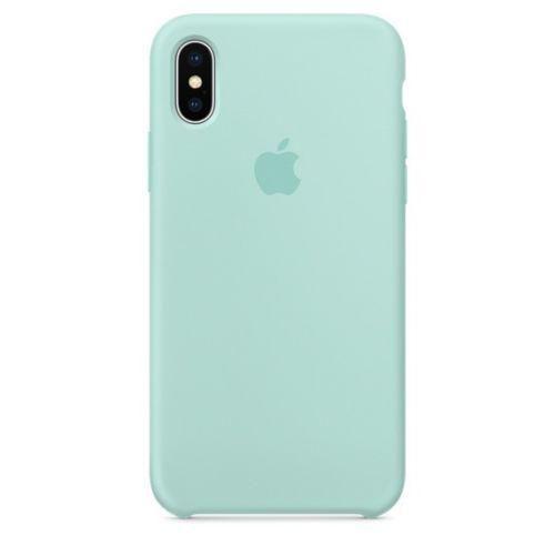 Apple iPhone X (5.8″) Silicone Case – Marine Green…