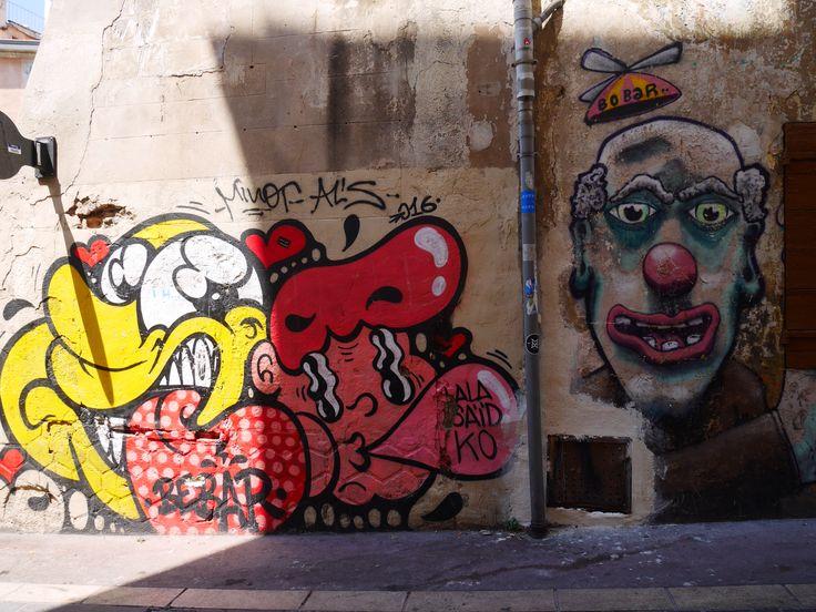 Street art au panier à Marseille, photo prise  par Valérie Coutrot.