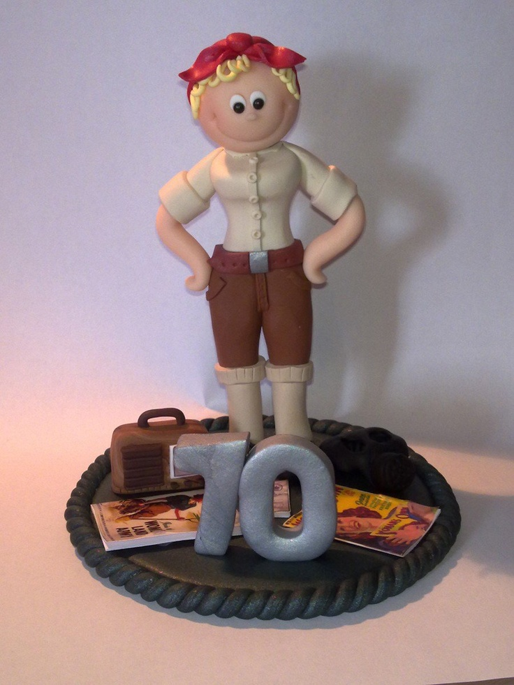 Fully personalised birthday cake toppers! This one is a Land Girl!   £29.99