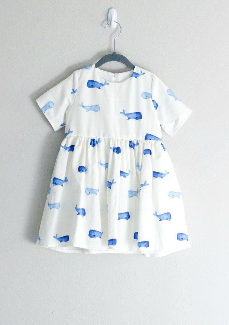Belle robe d'impression de baleine à la main | EYGoods sur Etsy   – Kid Style