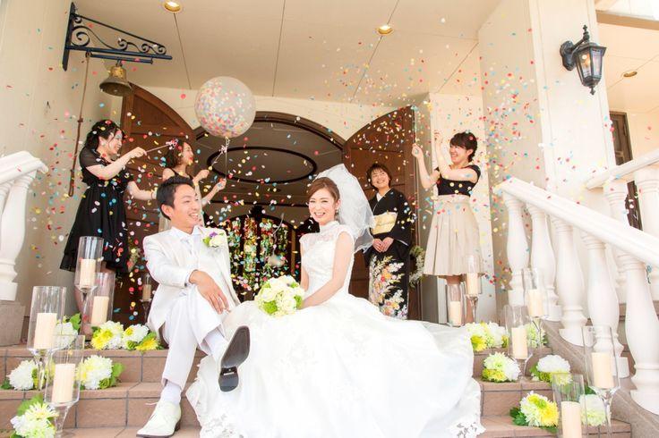 【福岡県久留米市 ホテルニュープラザKURUME・ウェディング】コンフェッティバルーン!ゲストの心にも残るフォトジェニックな演出。