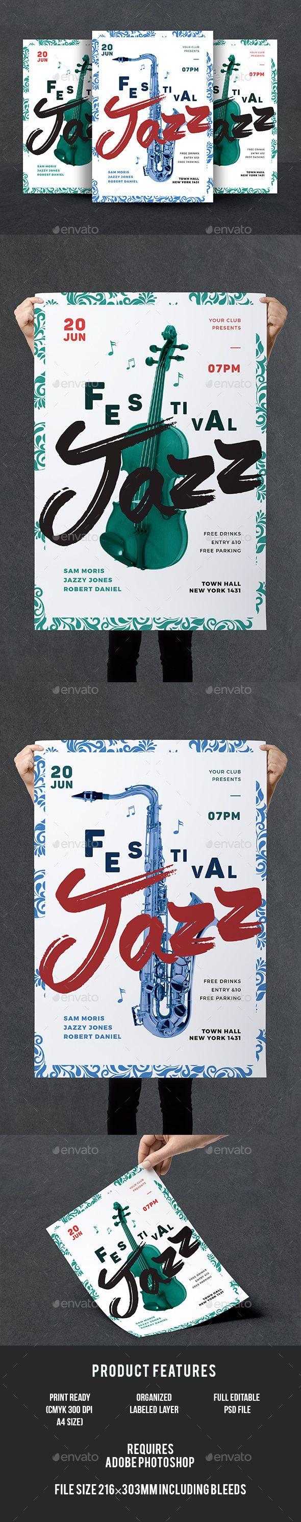 Jazz Flyer Template PSD
