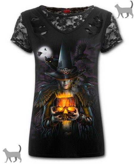 Camiseta Bruja y Gato Negro #cats #gatos #witch #witchcraft #moon #luna #gothic #gotico #xtremonline