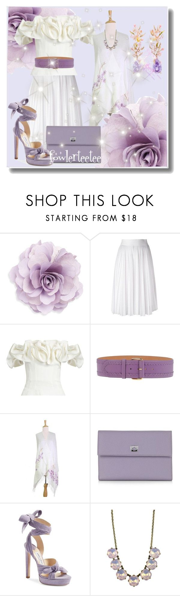 """""""Evening Garden Party...by fowlerteetee"""" by fowlerteetee ❤ liked on Polyvore featuring Cara, Givenchy, Brock Collection, Blumarine, NOVICA, Pineider, Jimmy Choo and Anabela Chan"""