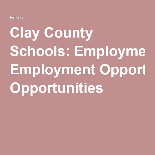 NC Clay County Schools: Employment Opportunities