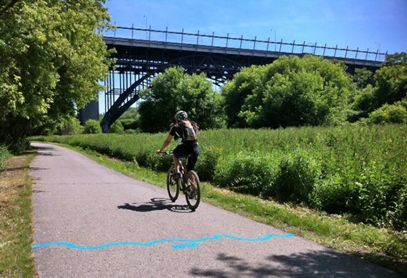 Now you can follow the former route of the Don River