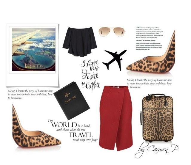 """Leo print"" by carmen-georgiana ❤ liked on Polyvore featuring Christian Louboutin, Polaroid, FOSSIL, Dolce&Gabbana, Jil Sander, Rebecca Taylor, Ray-Ban, women's clothing, women's fashion and women"