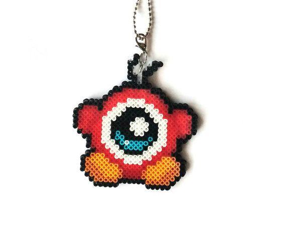 Waddle Doo collar - joyas de Nintendo, regalos Geek, Pixel joyas, regalos para los jugadores, Nerd regalos, Perler Mini perlas, perlas Hama Mini
