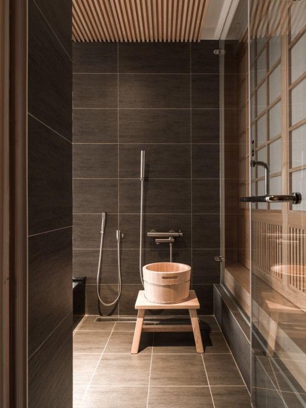 Minimalistisch Badezimmer Trendig Haus Japanisch Design Innenarchitektur  Marmorfliesen