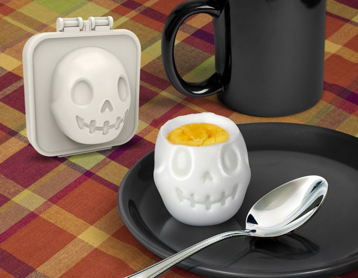 Egg-A-Matic Skull Egg Mold:  If you need to make your eggs a bit more spooky in the morning, the Egg-A-Matic Skull Egg Mold can help. Simply hard-boil an egg, place it in the mold, and an adorable and delicious noggin is yours for the eating.eggamaticskull-main