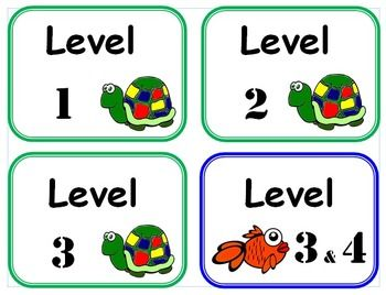 DRA and Guided Reading Book Box Label Set - Buy combined set and save! Only $4.00!.  DRA Book Box Labels  This packet contains: Kindergarten: Level 1, 2 and 3 labels. 1st Grade: Level 3&4, 5&6, 8, 10, 12, 14 and 16 labels. 2nd Grade: Level 18, 20, 24 and 28 labels. 3rd Grade: Level 30, 34 and 38 labels. 4th Grade: Level 40 label. 5th Grade: Level 50 label. 6th Grade: Level 60 label. 7th Grade: Level 70 label. 8th Grade: Level 80 label.  Guided Reading Book Box Labels  This packet contains…