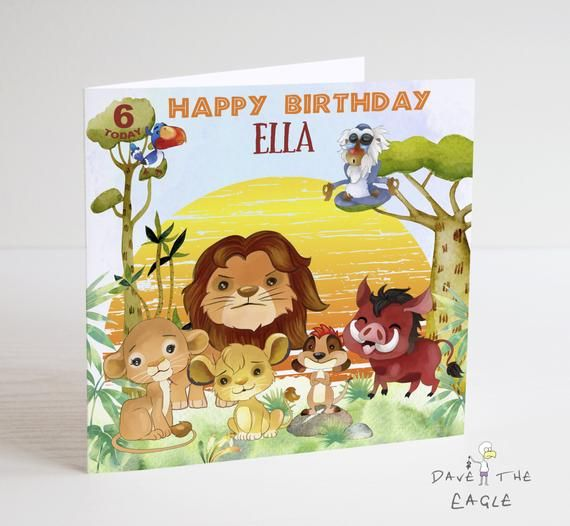The Lion King Birthday Card Etsy Lion King Birthday King Birthday Birthday Cards