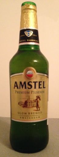 Amstel Premium Pilsener, Brewed by Athenian Brewery (Heineken), Athens, Greece - bought in Almaty, Kazakhstan