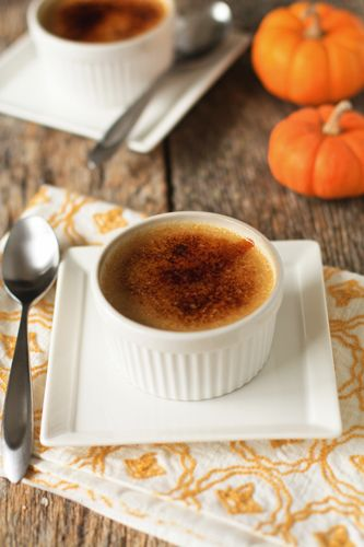 Vanilla Infused Pumpkin Creme Brulee.  I love Creme Brulee, and this may be the topper to my Thanksgiving feast.