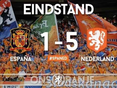 Vrijdag de 13e Spanje-Nederland WK Brasil 2014