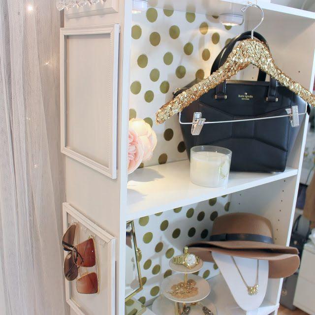 Make Your Own Bookcase Closet & Sequin Hanger