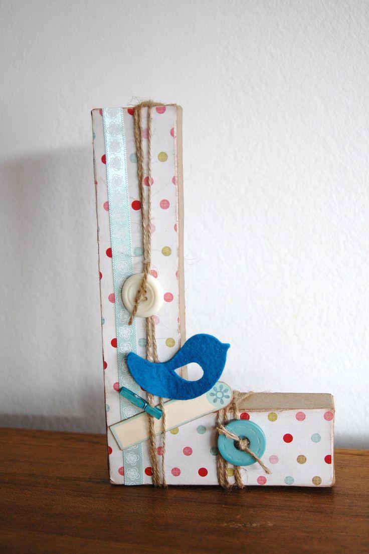 letras para decorar habitación infantil, home decor, scrapbooking