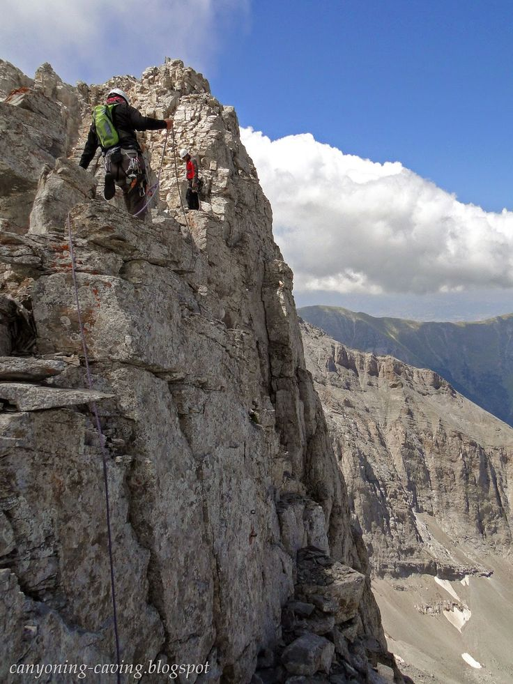 Mountaineering at mt Olympus, Greece