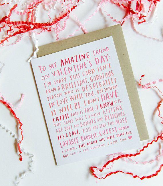 San Valentino per il mio amico incredibile singolo / amico cartolina di San Valentino, San Valentino divertente amico n. 188 - C