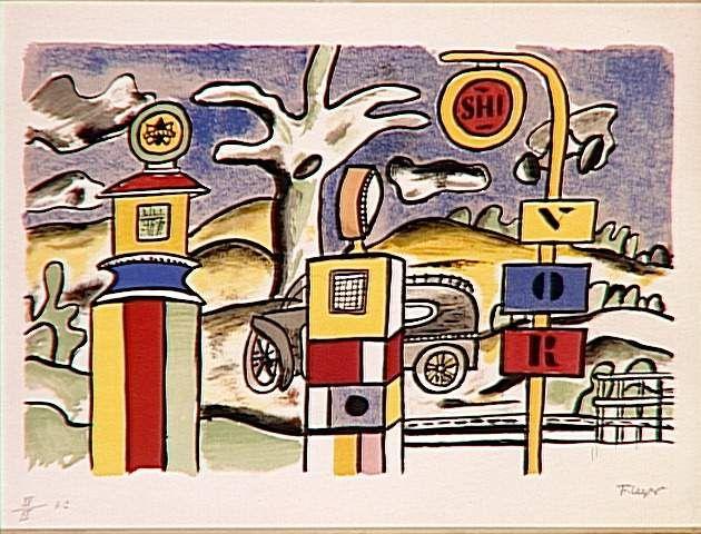 Bomba de combustible - Fernand Léger. Arte Naíf (Primitivismo)