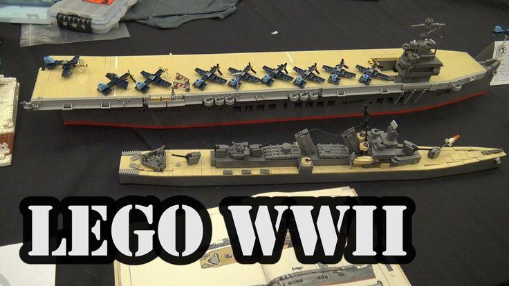 LEGO USS Johnston and USS Sangamon WWII Ships | World War Brick 2017