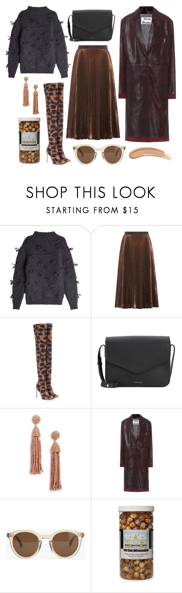 """""""OTK Boots"""" by cherieaustin ❤ liked on Polyvore featuring Simone Rocha, Christopher Kane, Francesco Russo, Mansur Gavriel, BaubleBar, Acne Studios, J.Crew, The Hampton Popcorn Company and Gucci"""