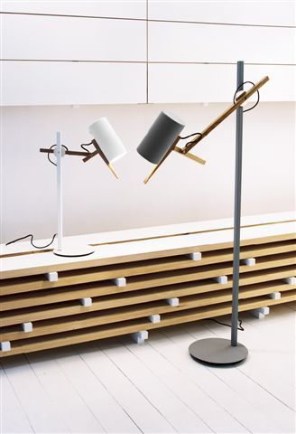 Scantling floor lamp & Scantling table lamp by Mathias Hann