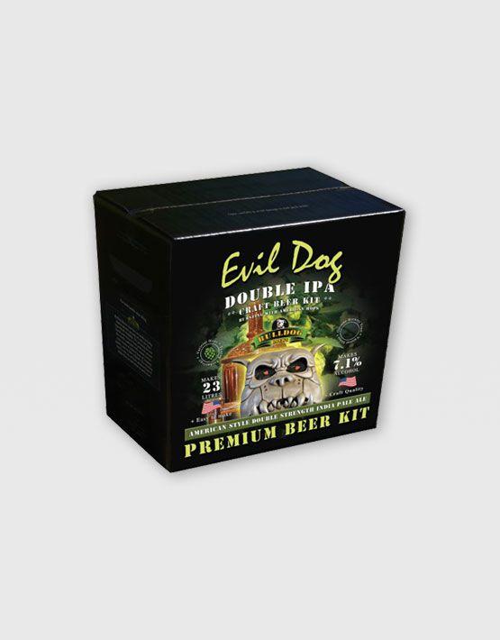 Evil Dog Duble IPA Evil Dog American Double IPA Simcoe ve Summit şerbetçiotlarının yüksek dozda kullanımı ve özel Amerikan Craft bira mayası ile eşleştirilmesiyle yaratılmış gerçek bir 'Craft' bira. Sağlam acılık ve patlayan çam ve greyfurt aromaları tipik tadım notlarıdır. Amerikan şerbetçiotu peletleri, gerçek tazelik ve kullanım kolaylığı düşünülerek 'teabag' çaypoşeti teknolojisi ile üretilmiştir. %100 malt bira kitidir, şeker eklemek gerekmez.