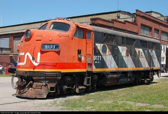 RailPictures.Net Photo: CN 9171 Canadian National Railway EMD F7(A) at St. Thomas, Ontario, Canada by Hiawatha Pete