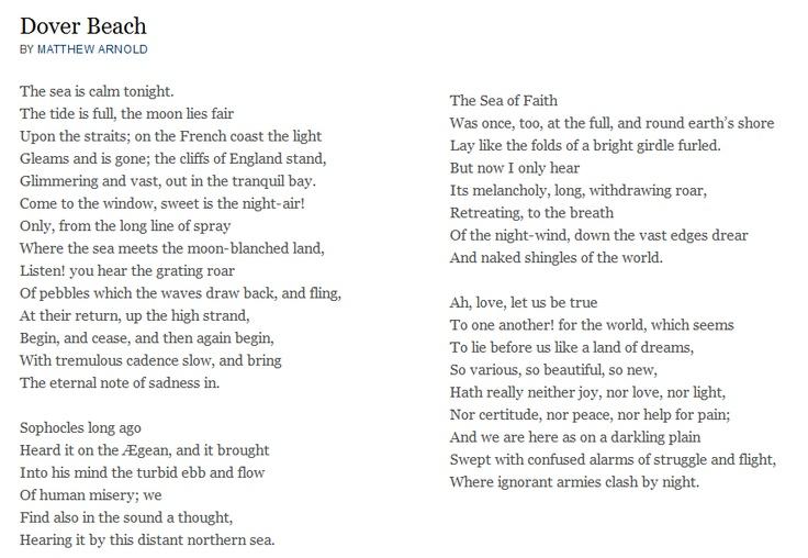 Matthew Arnold's Dover Beach: Summary & Analysis