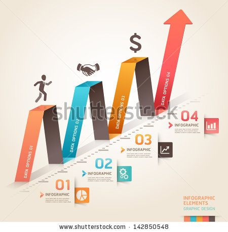 Modern Business Infographics Origami Arrow Template. Vector Illustration. Can Be Used For Workflow Layout, Diagram, Number Options, Business Step Options, Banner, Web Design. - 142850548 : Shutterstock