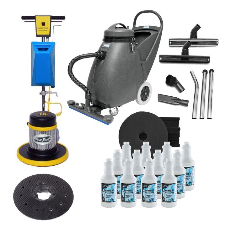Heavy Duty Commercial Floor Stripping Machine Package