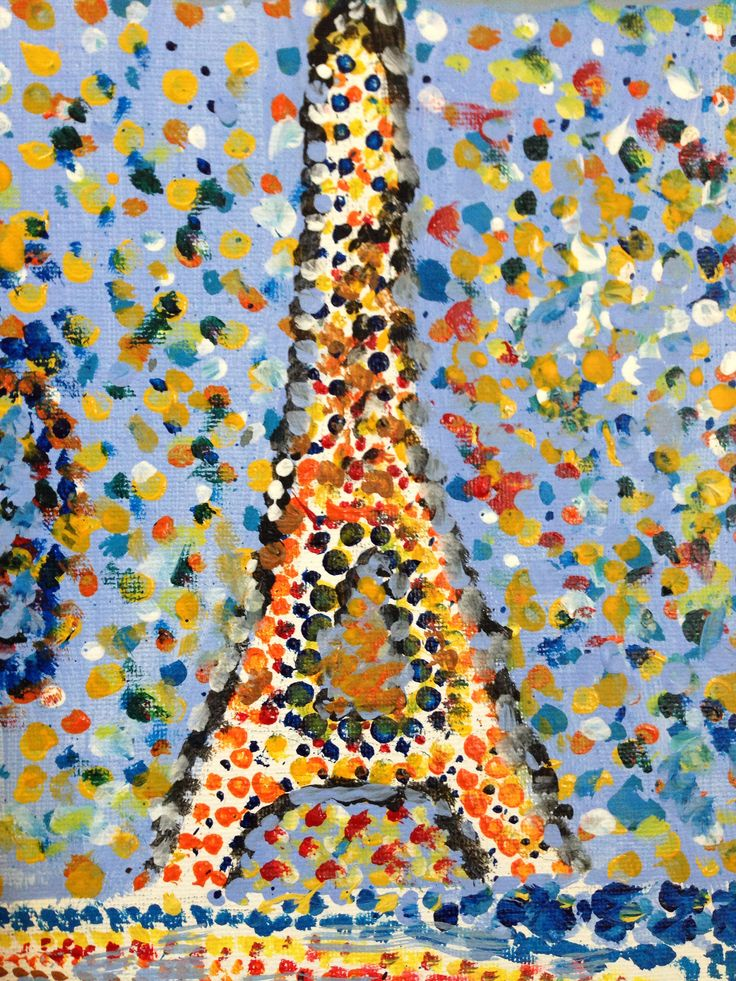 Q tip art of the Eiffel Tower                                                                                                                                                                                 More