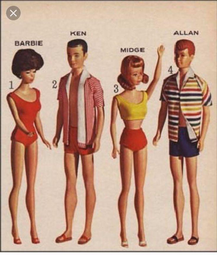 My exact Barbie and Ken dolls!