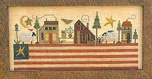 Patriotic Landscape - Cross Stitch Pattern by Homespun Elegance