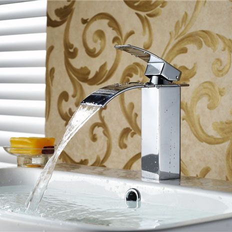 Brand New Polished Basin sink waterfall Tap, single lever single hole Deck Mounted basin waterfall Faucet.Faucet. Mixer.torneira #jewelry, #women, #men, #hats, #watches, #belts